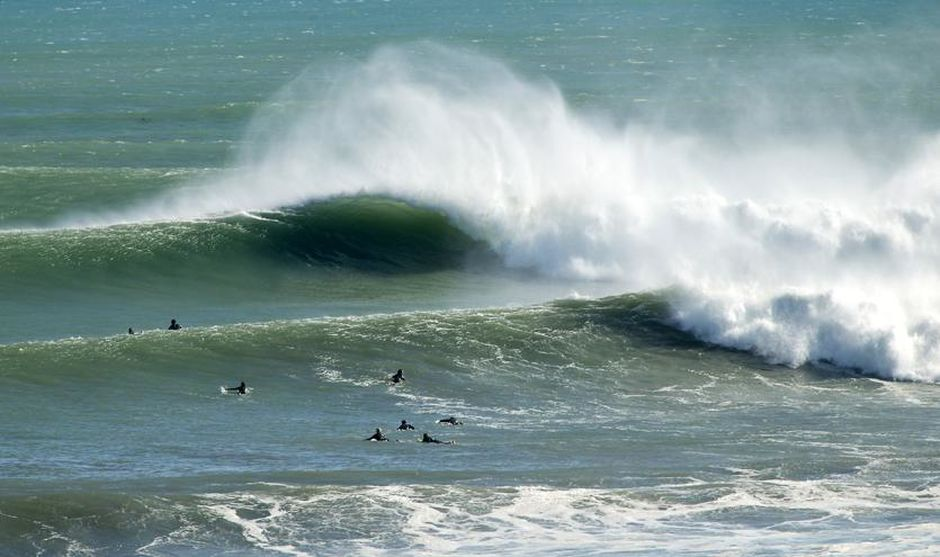 New Plymouth's inner city 'Bog Works' break, is home of an annual big wave surfing competition.