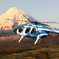Explore Taranaki's stunning mountain to sea landscape with a scenic helicopter flight.