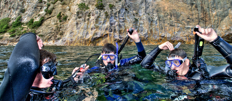 Diving in the marine reserve