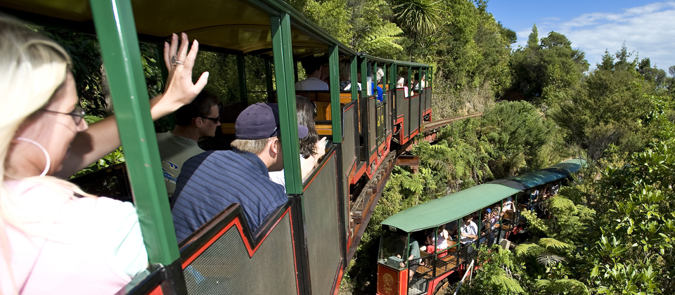 Driving Creek Railway is a popular attraction just 3km from Coromandel township