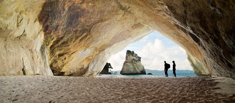 The Coromandel is home to Cathedral Cove, a tunnel carved by the sea leading to a perfect beach.