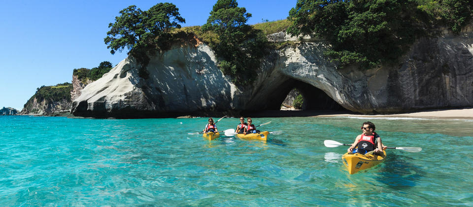 Just 2 hrs from Auckland and you can be exploring the dramatic coastline of The Coromandel by kayak.