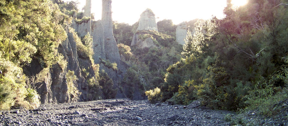 The magical Putangirua Pinnacles