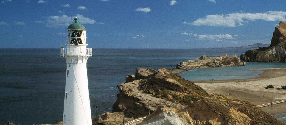Castle Point lighthouse and beach are just 45 minutes drive from Masterton.