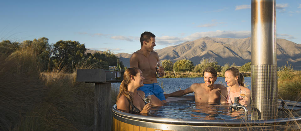 Rejuvenate your saddle weary muscles with a soak in Omarama Hot Pools on the Alps 2 Ocean Cycle Trail.