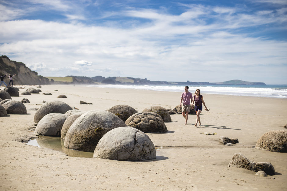 You simply can't drive along the North Otago coast without stopping to stare at the Moeraki Boulders - they're amazing!