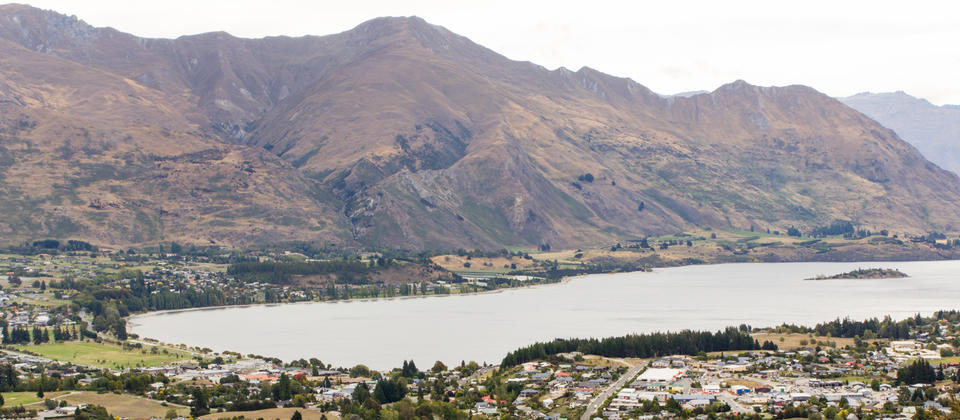 Wanaka from the top of Mt Iron