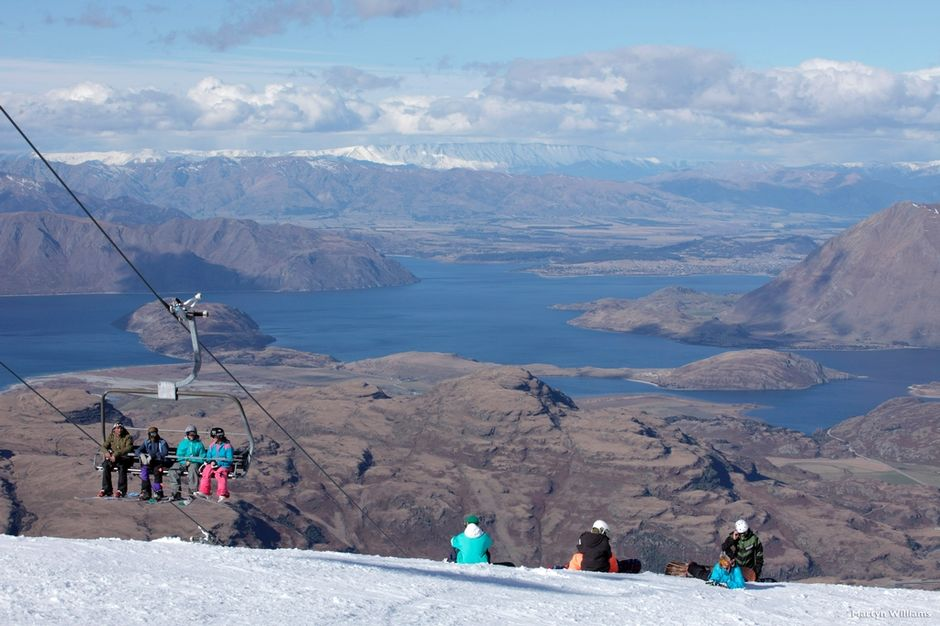 The world-class ski area of Treble Cone was another filming location.