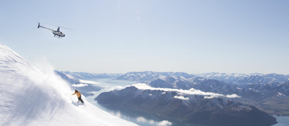 Heli Skiing above Lake Wanaka