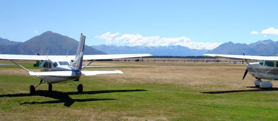 A small airport, Wanaka Airport is the base for scenic flights and charter flights.