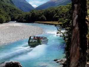 Jet-boating in Mt Aspiring