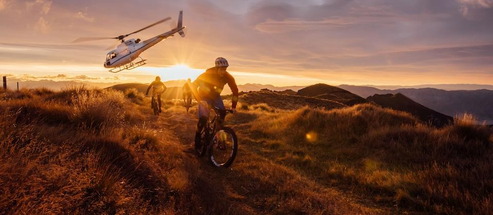 Heli mountain-biking
