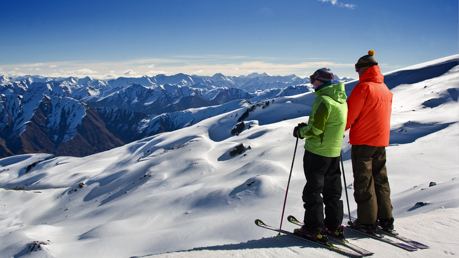 Skiing at Cardrona Alpine Resort, near Wanaka and Queenstown