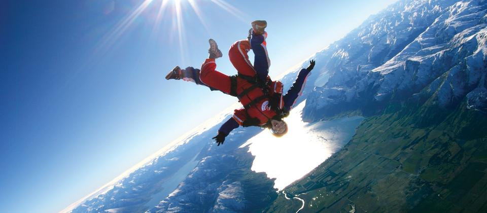 Skydiving above Lake Wanaka