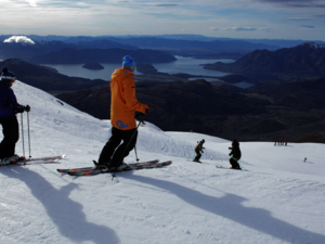 Treble Cone is the largest ski area in the South Island.
