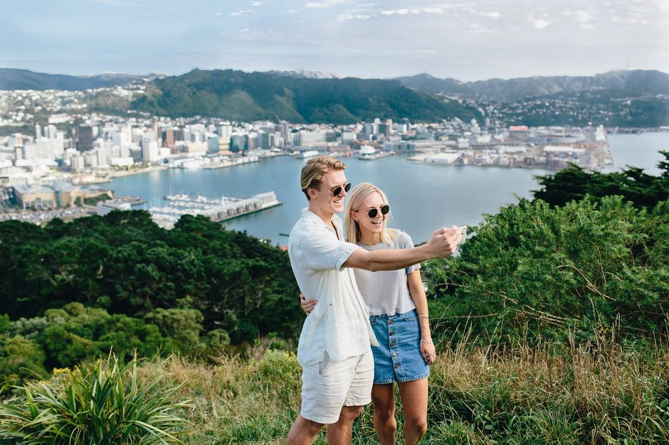 Enjoy stunning city and harbour views from Mount Victoria in Wellington.