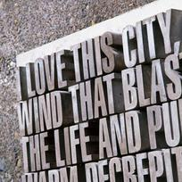 Typographical sculptures dot Wellington's picturesque waterfront.