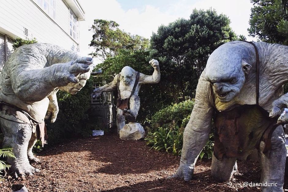 The famous trolls at Weta Workshop in Wellington.