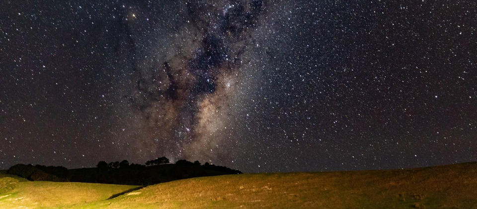 Milky Way rising over the Wairarapa near Castle Point
