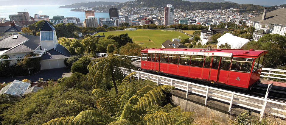 Take a ride on the historic Wellington Cable Car and enjoy views over the city and harbour from the lookout at the top.