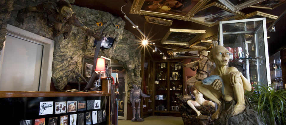 Film buffs will love the opportunity to buy memorabilia from the Weta Cave.