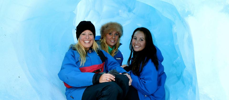 Smiling faces on Franz Josef Glacier