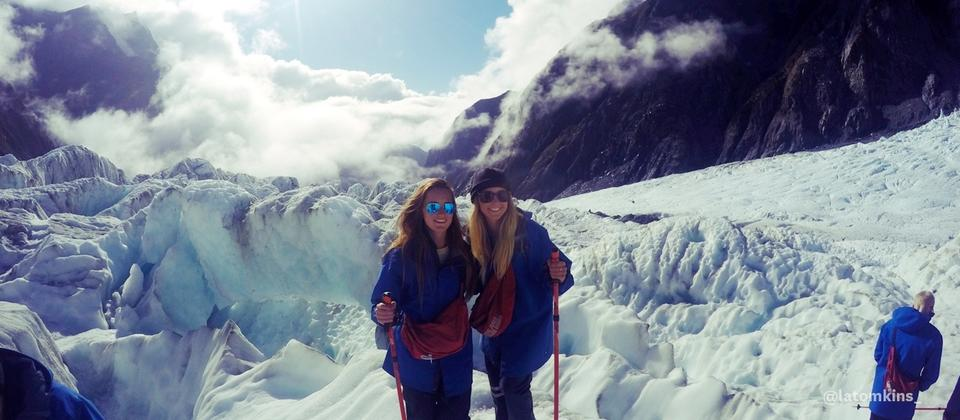 Journey into ice age at the Franz Josef or Fox glaciers on the West Coast.