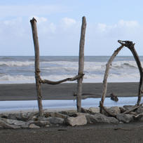 Hokitika beach is typical of the South Island's wild West Coast