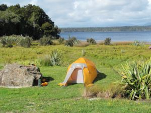 DOC campground by Lake Mahinapua