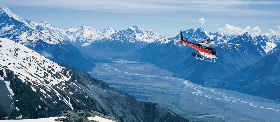 Take a scenic flight over the West Coast glaciers and the peaks of the Southern Alps.