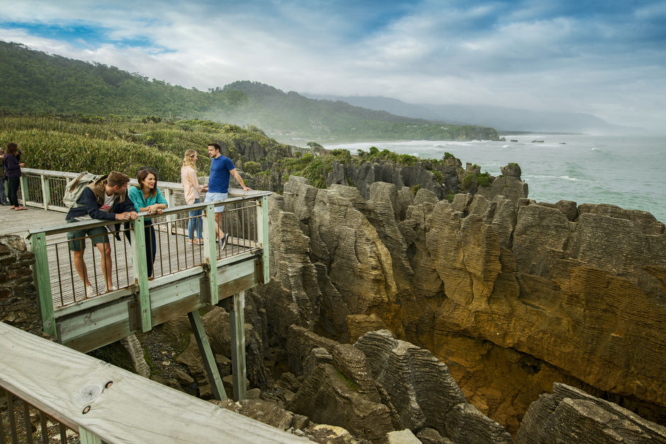 Punakaiki Pancake Rocks and Blowholes on the West Coast are an impressive sight, reminding you of nature's infinite creativity.