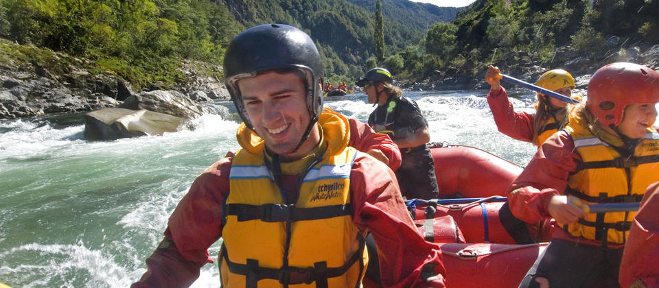 Without any dams to slow its passage, the Buller is a 'go fast' river for rafting.