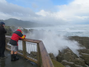 Blowholes at Punakaiki