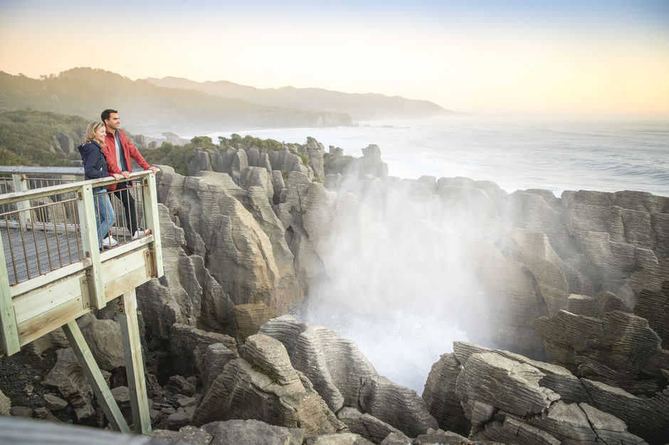 The pancake rocks in Punakaiki are the most visited natural attraction on the West Coast.