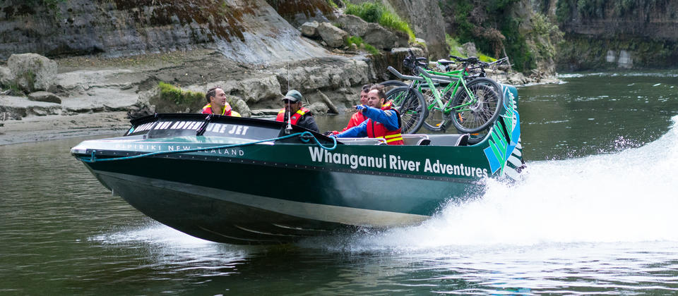 Every day is different on the Mountains to Sea cycle trail, which crosses two National Parks and the Whanganui River.