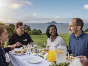 National Geographic Explorers dine with locals