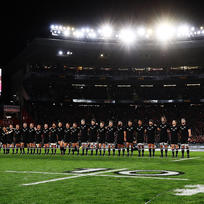 All Blacks team at Eden Park