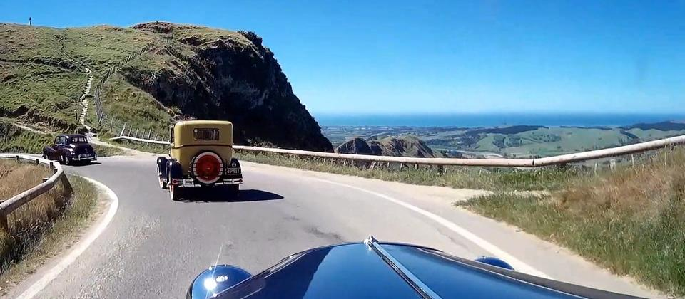 Napier Classic Cars at Te Mata Peak, New Zealand