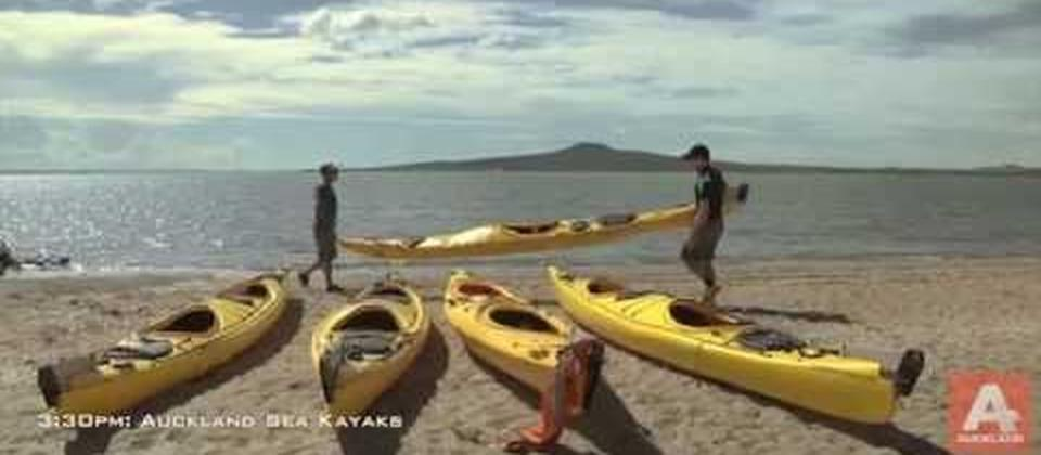 Sunset Sea Kayak tour to Rangitoto Island, Auckland NZ