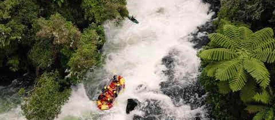 Experience the thrills and spills of the Mighty Kaituna River as we take on the world famous 7 metre Tutea Falls, the highest commercially rafted waterfall. Together with your expert guide, your team will enjoy a 50 minute action packed ride down 14 epic
