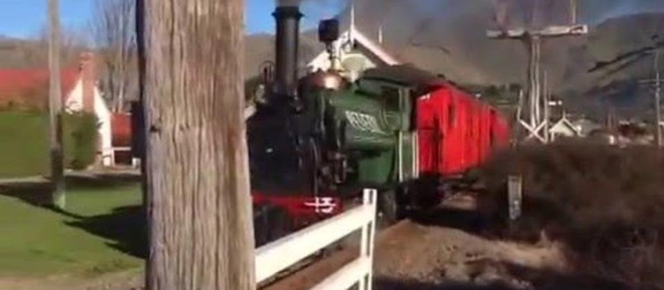 This is the Peveril Steam Engine which runs on Steam Sundays at Ferrymead Heritage Park