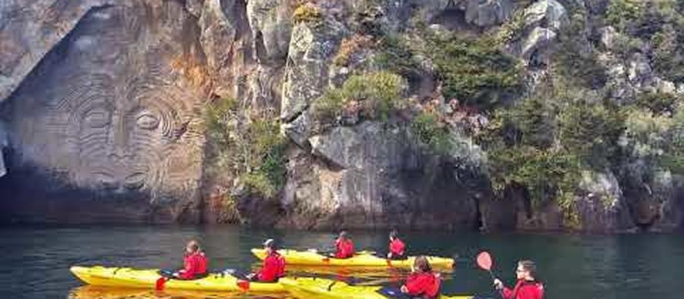Maori Rock Carvings Kayak Tour