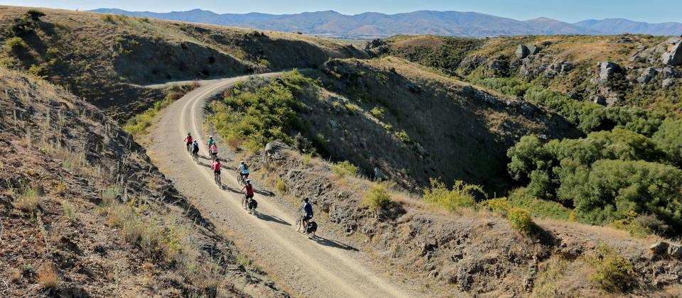 The Central Otago region of New Zealand's South Island is host to three magnificent cycle trails.