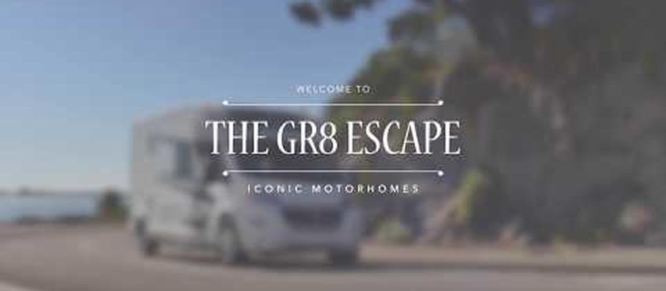 Luxury Motorhome Rental in New Zealand The Gr8 Escape is one of our Family orientated fleet of High Quality Motorhomes. Offers Bunk Beds for the Children and permanent Double bed too,