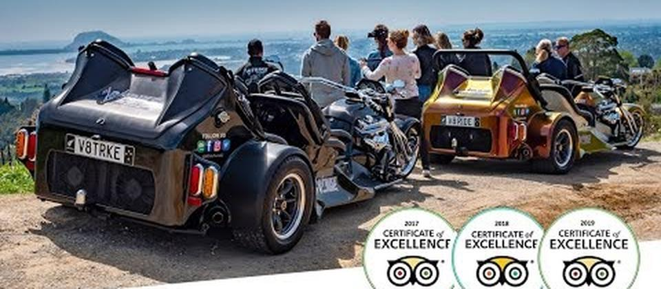 If you're planning to visit the Bay of Plenty, New Zealand, take an exhilarating tour of our beautiful region by V8 Trike.