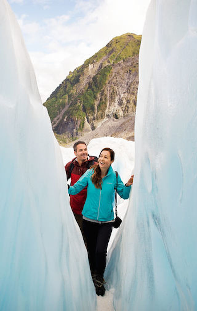 Walk through valleys of ice on a trip to Fox Glacier, on the western edge of the South Island. This unique natural wonder is best explored by foot.